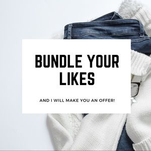 BUNDLE YOUR LIKES, I WILL MAKE AN OFFER (: